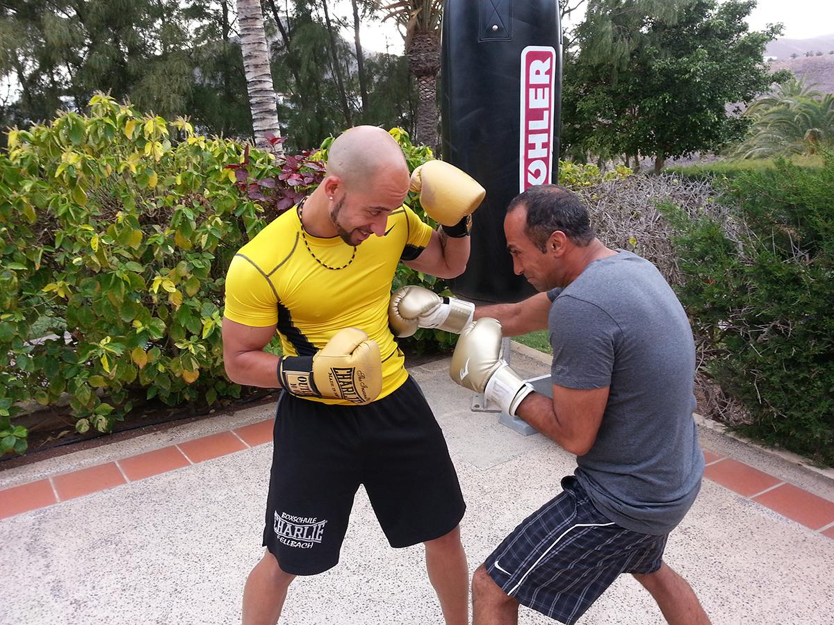 Boxen mit Andre